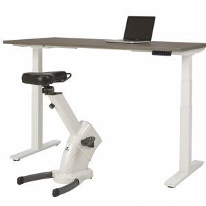 Zit sta bureau wir frame eiken blad met Desk Bike Pro
