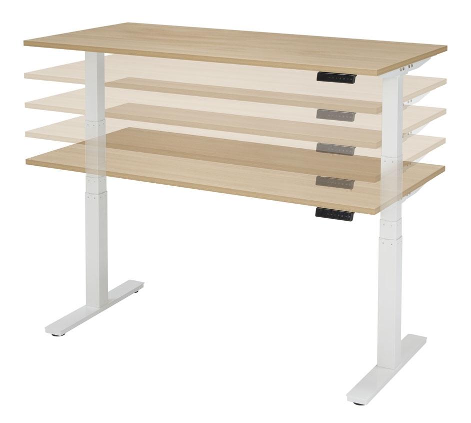 zit sta bureau elektrisch 130 cm bureaustoelen mkb snel leverbaar. Black Bedroom Furniture Sets. Home Design Ideas