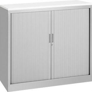 Roldeurkast 105 cm hoog aluminium