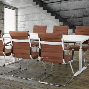 Easy-2 vergadertafel met stoelen