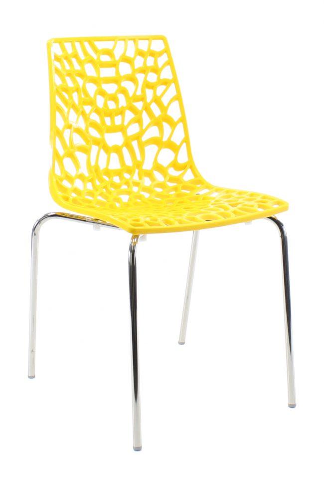 SO Koraal geel 4-poots stoel