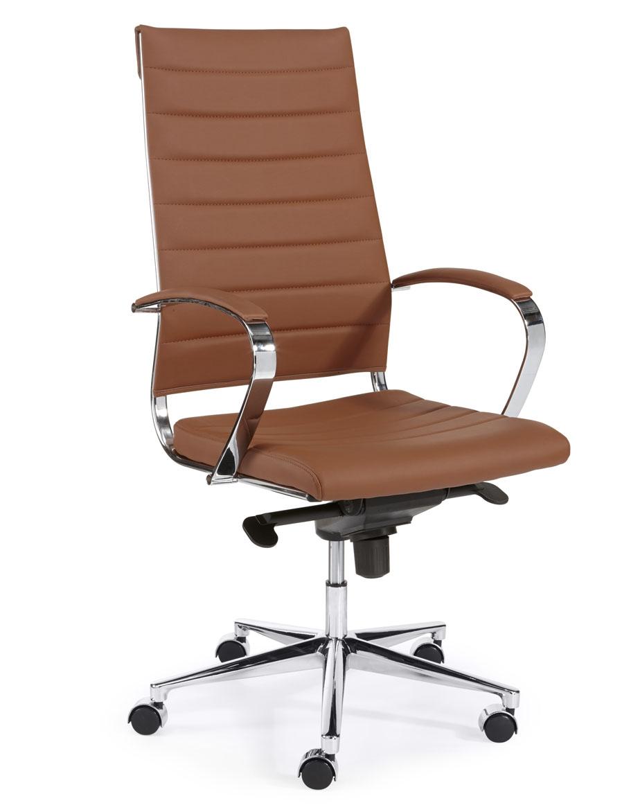 Cognac Leren Bureaustoel.Steel 1202 Bureaustoelen Mkb Design En Directie Stoel