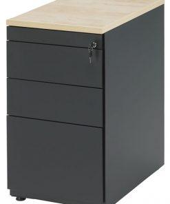 Ladeblok van 74 cm hoog met indeling; 1 x materiaal, lade, 4 lade kleur zwart