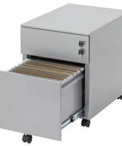 Ladeblok 54 rol - Compact ladeblok met dossierlade en gewone lade. kleur alu. Bureaustoelen MKB