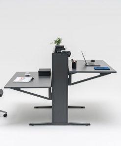 Duo Flow | duo zit sta bureau, kleur anthraciet. MDD | Bureaustoelen mKB