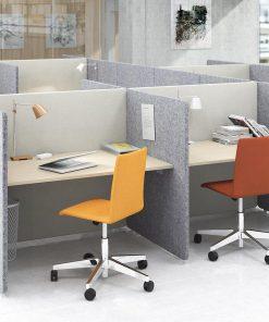 MY Space bureau en scherm met stoel. Bureaustoelen MKB